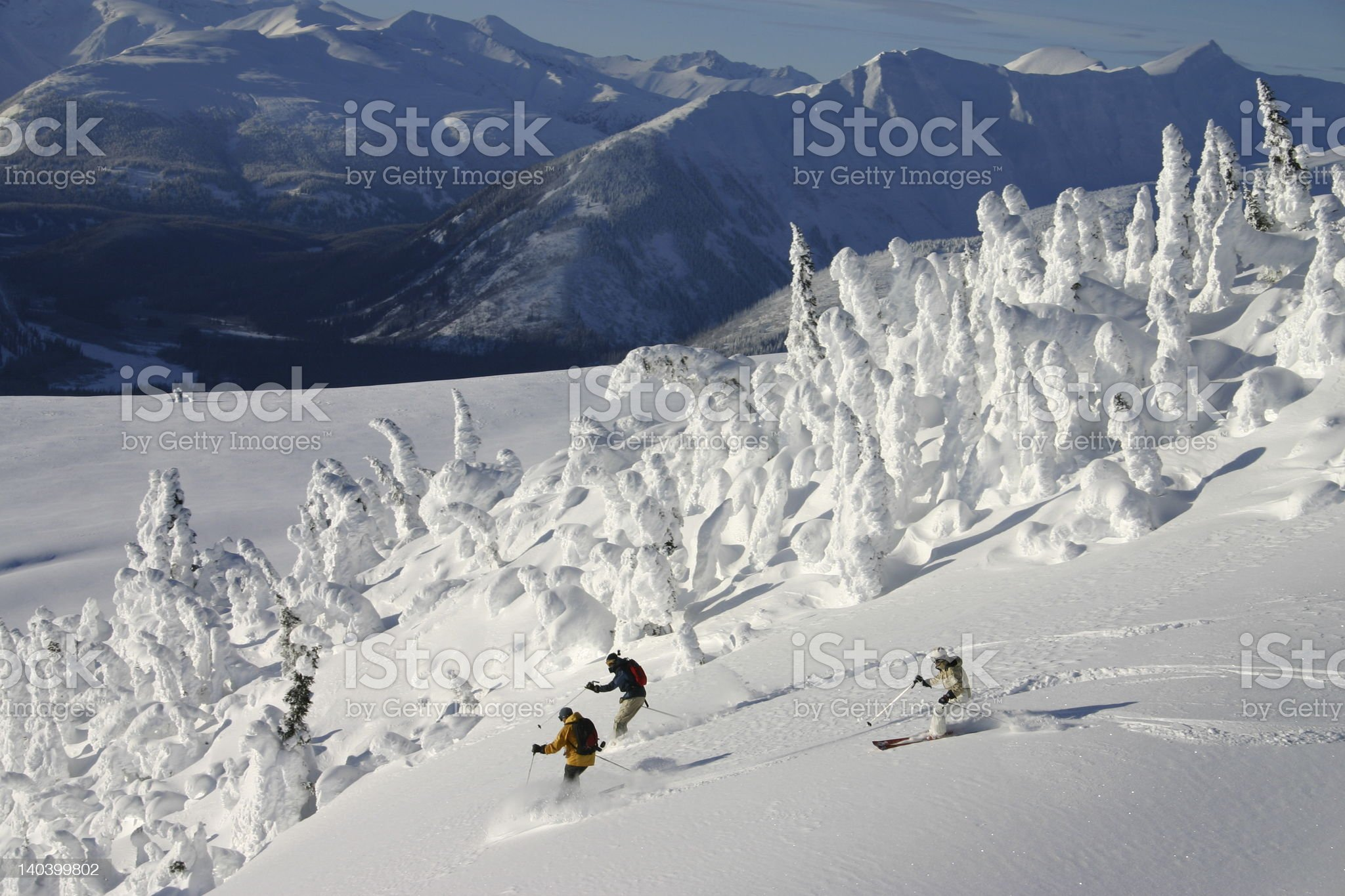 Helicopter Skiing royalty-free stock photo