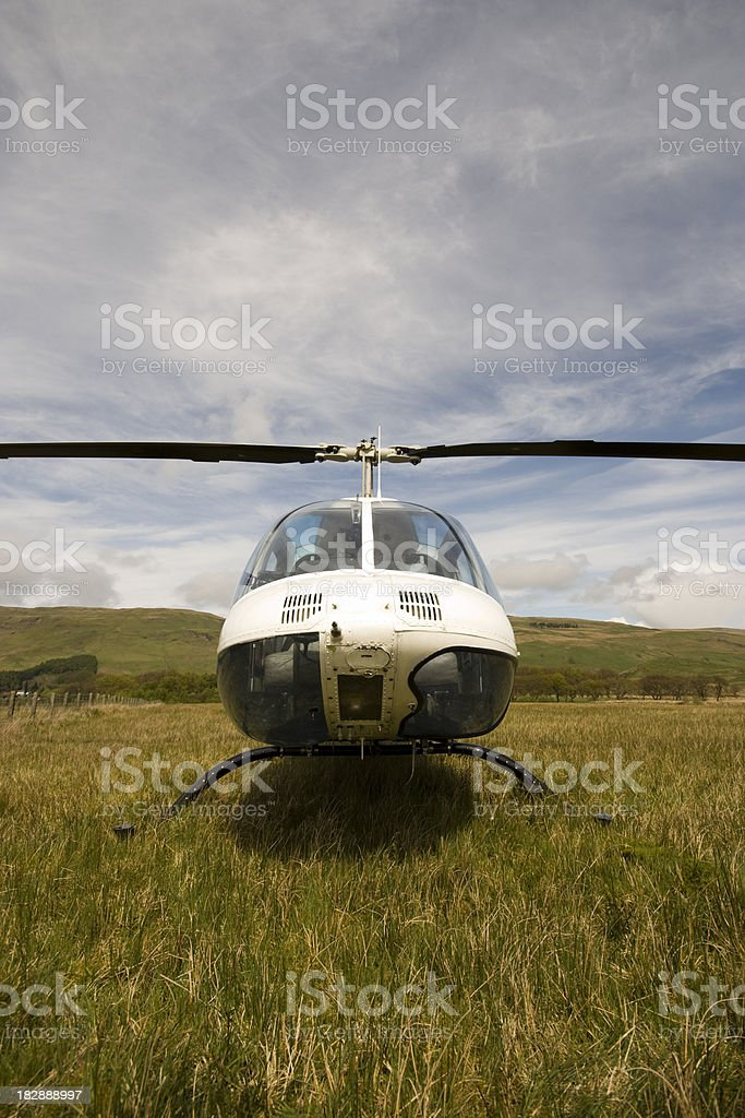 Helicopter Straight On stock photo
