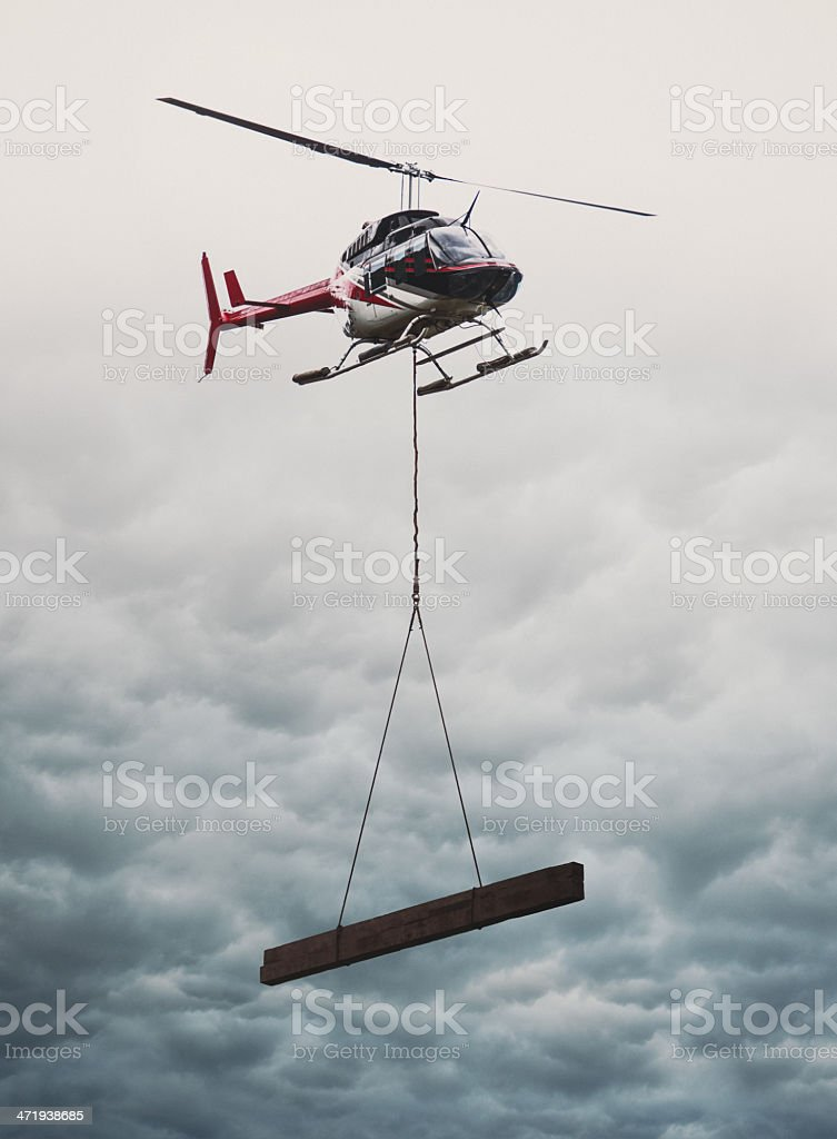 Helicopter Supply Drop stock photo