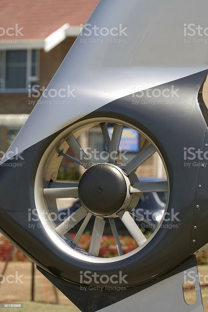 Helicopter Tail Rotor stock photo