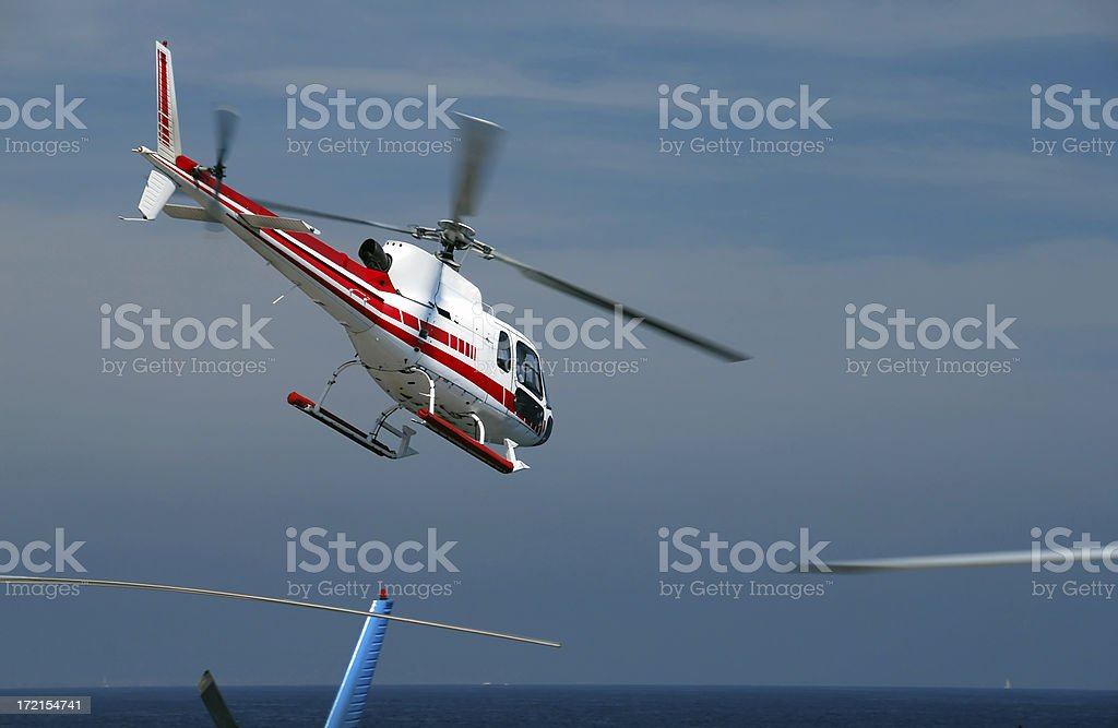 Helicopter take-off royalty-free stock photo