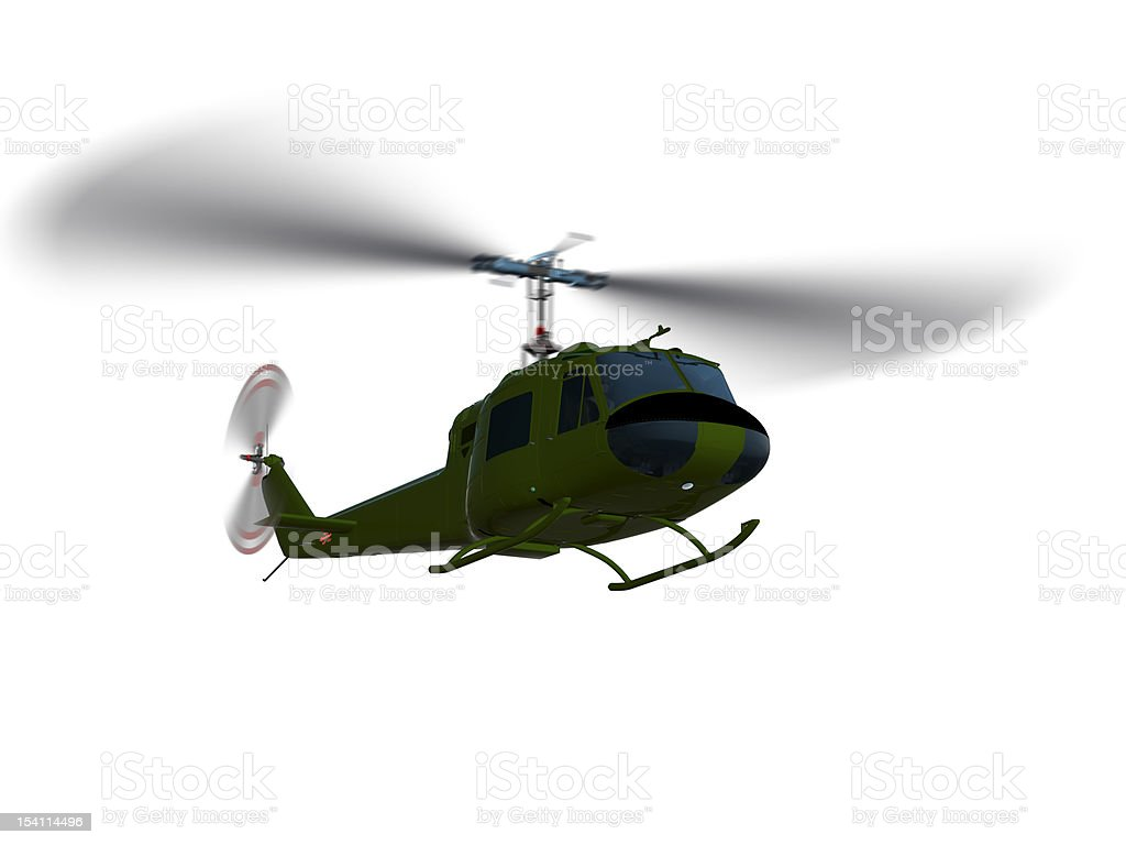 Helicopter UH-1 isolated stock photo