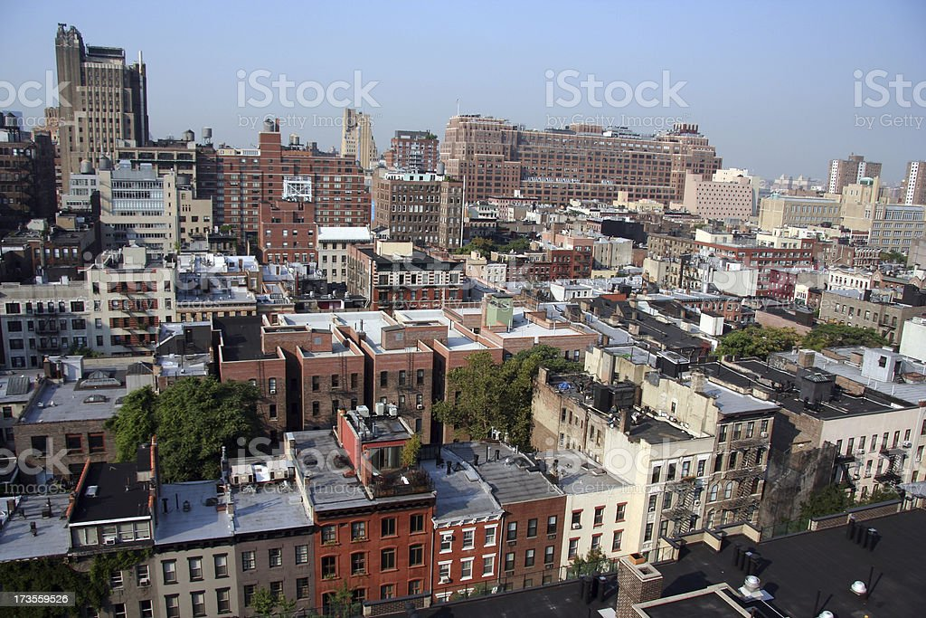 NYC helicopter view royalty-free stock photo