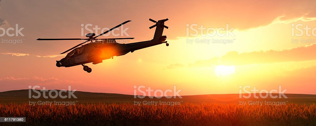 helicopter war stock photo