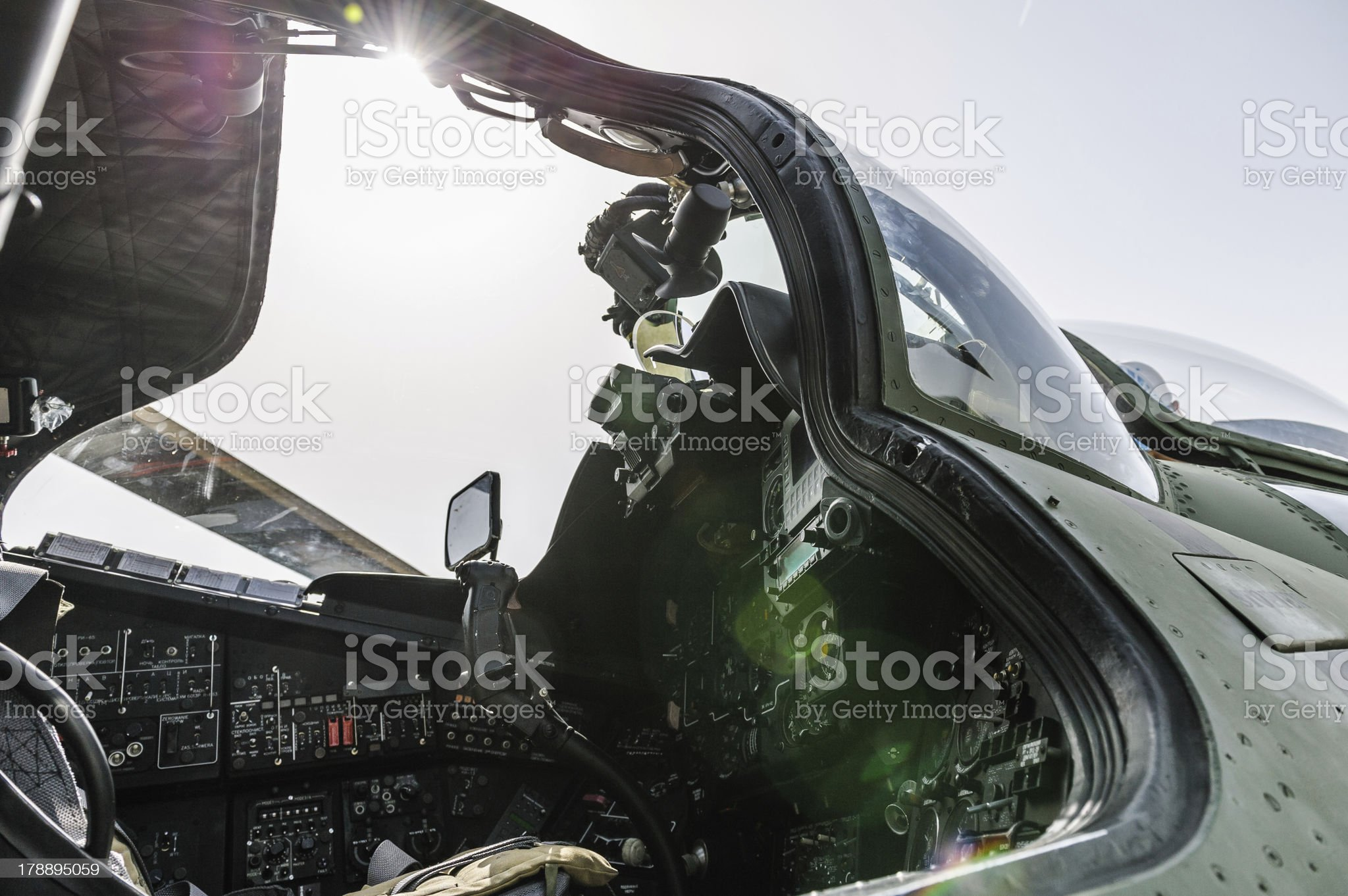 helicopter's cockipt royalty-free stock photo