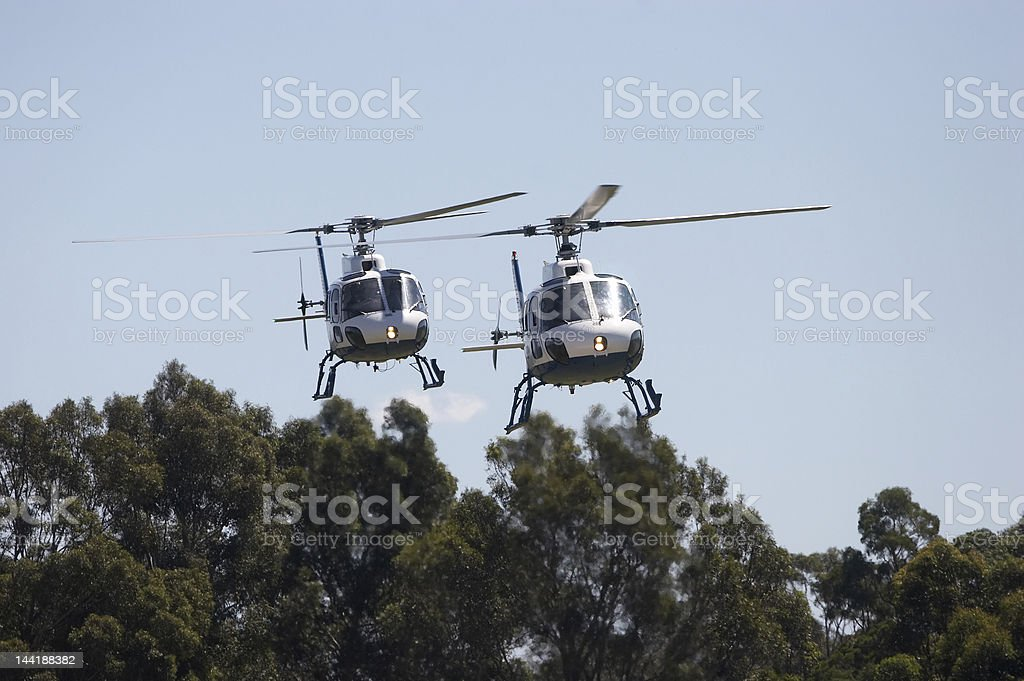 Helicopters royalty-free stock photo
