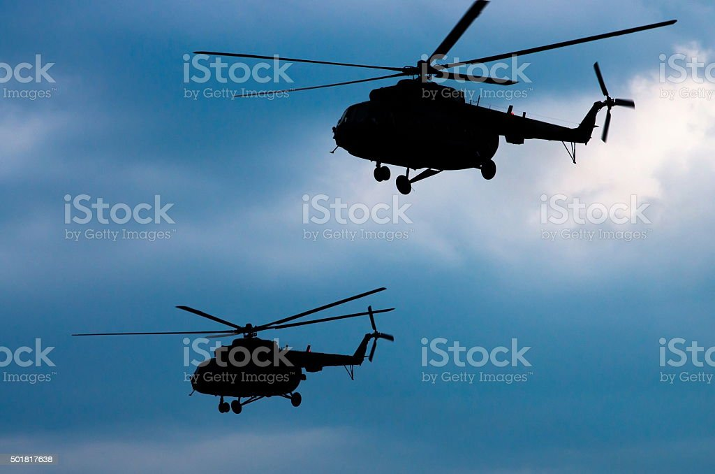 helicopters stock photo