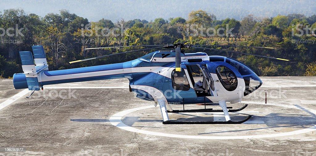 helicoptor helipad Jammu Kashmir India stock photo