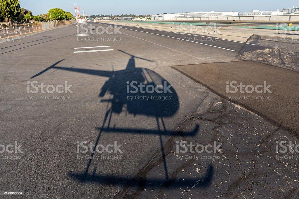Helicoter Shadow stock photo