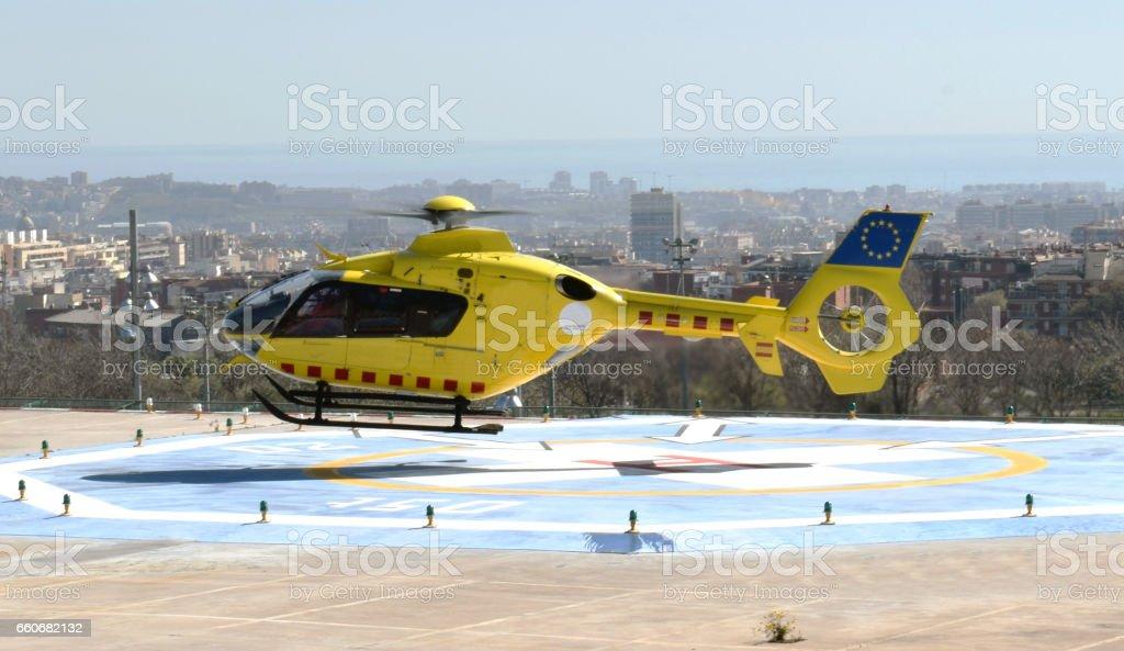 Helicópteros medio de transporte stock photo
