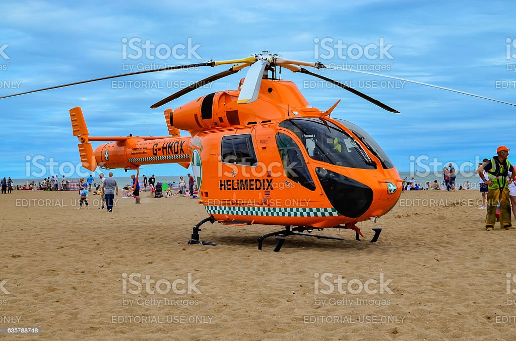 Helimedix Air Ambulance helicopter stock photo