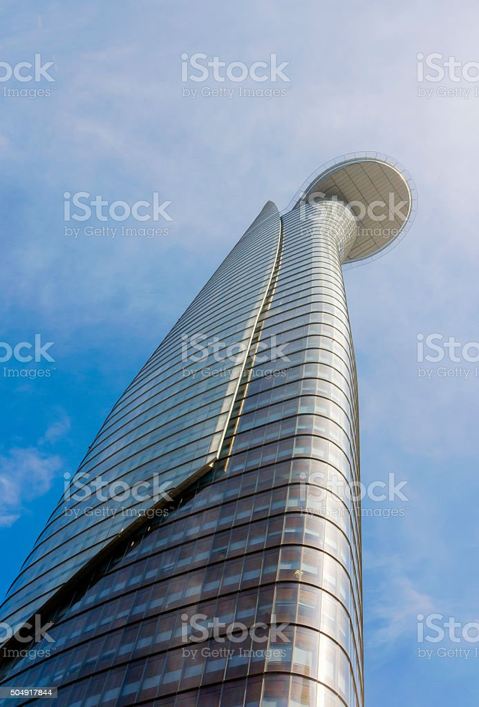 Helipad on the roof of a skyscraper stock photo