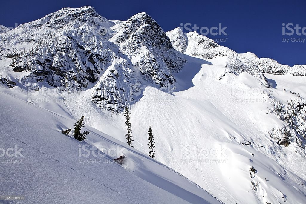 Heliskiing in The Monashees British Columbia royalty-free stock photo