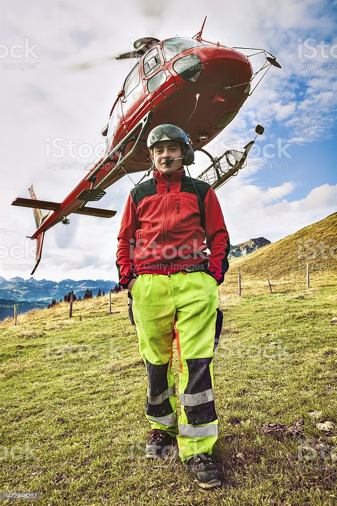 Heli-Transport, Communications stock photo