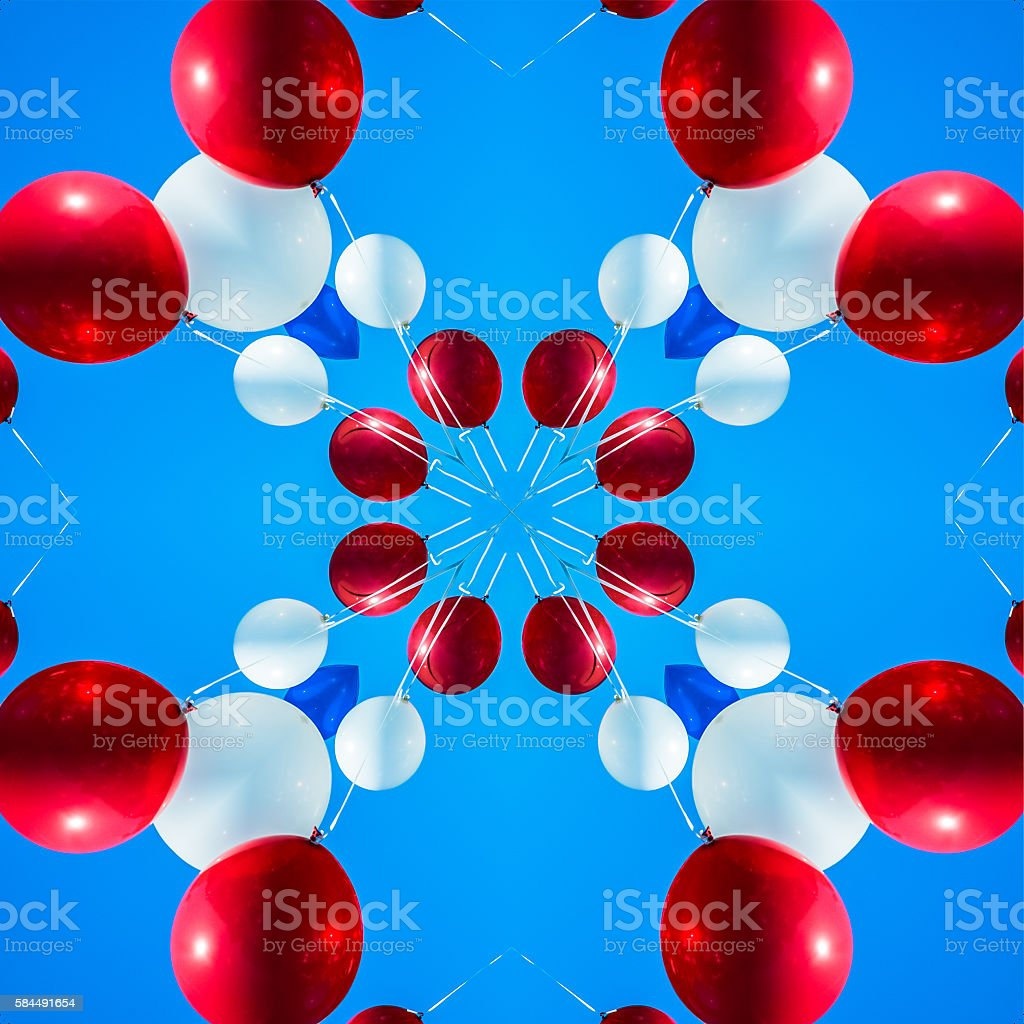 Helium Balloon Abstract stock photo