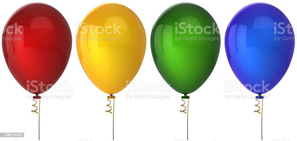 Helium balloons. Extra quality (Hi-res) royalty-free stock photo