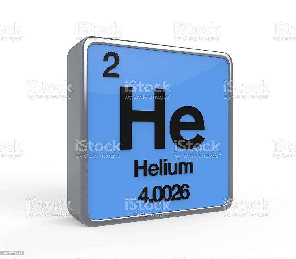Helium Element Periodic Table stock photo