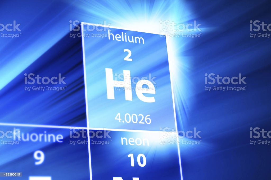 Helium He Periodic Table stock photo