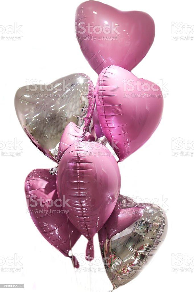 Helium Hearts stock photo
