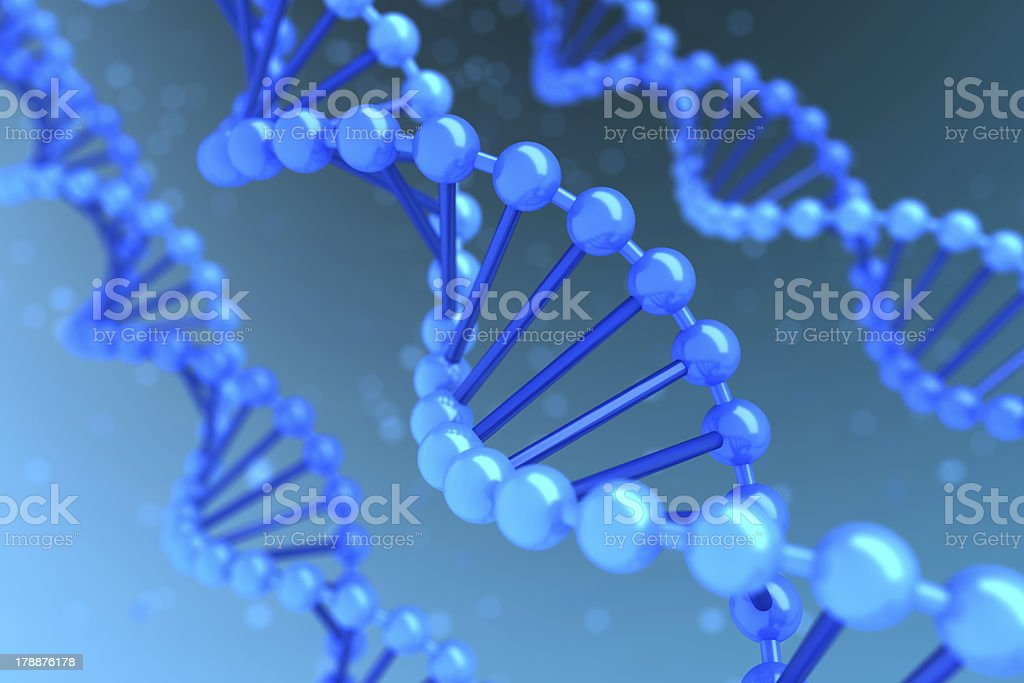 DNA helix royalty-free stock photo