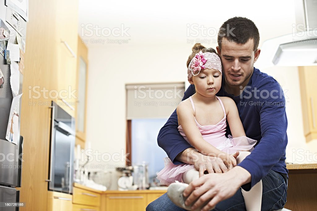 He'll always be there for her royalty-free stock photo