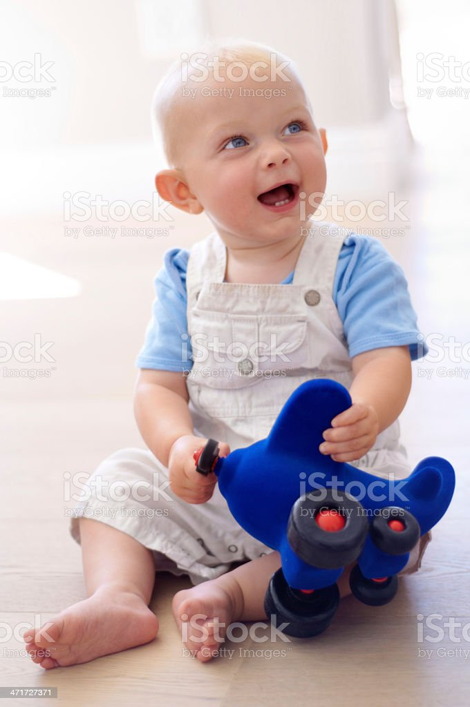 He'll be a pilot someday royalty-free stock photo