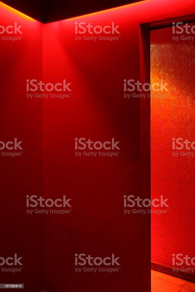 Hell corridors stock photo
