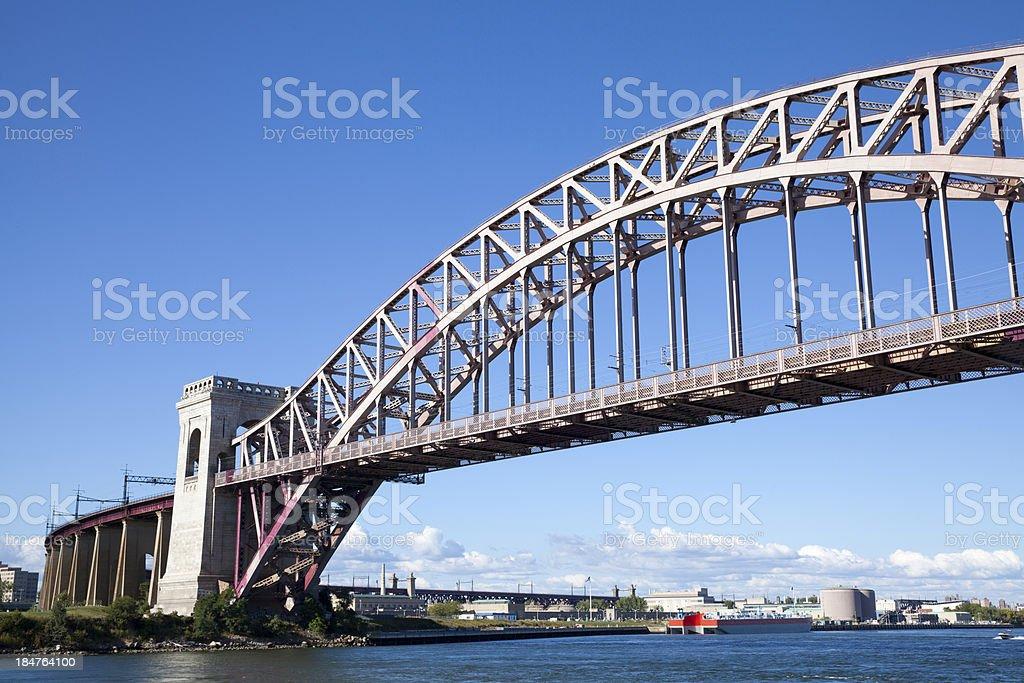 Hell Gate Bridge in New York City royalty-free stock photo
