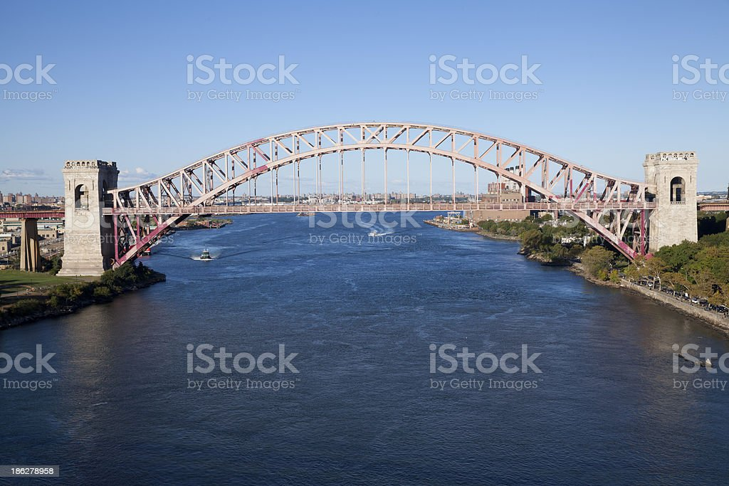 Hell Gate Bridge in New York City royalty-free stock photo