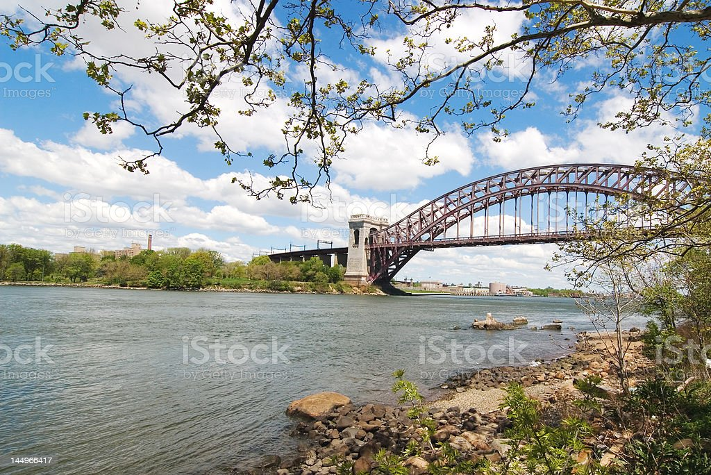Hell Gate Bridge, NY stock photo