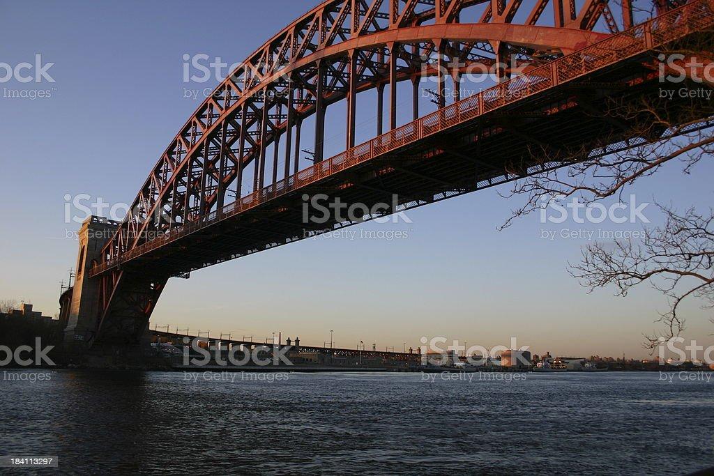 Hell Gate Bridge (Queens, Manhattan, Bronx) royalty-free stock photo