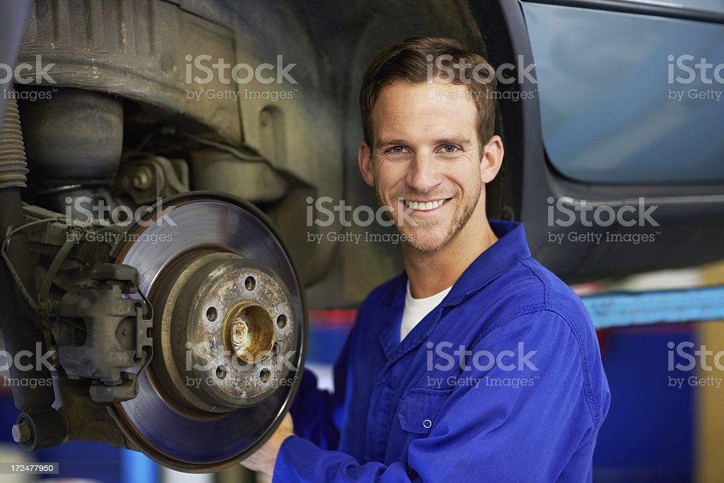 He'll get the job done properly royalty-free stock photo