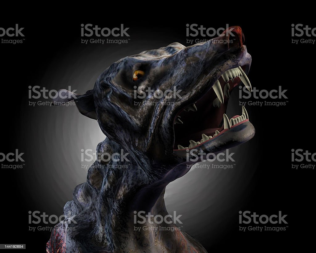 Hell Hound Howling - with clipping path royalty-free stock photo