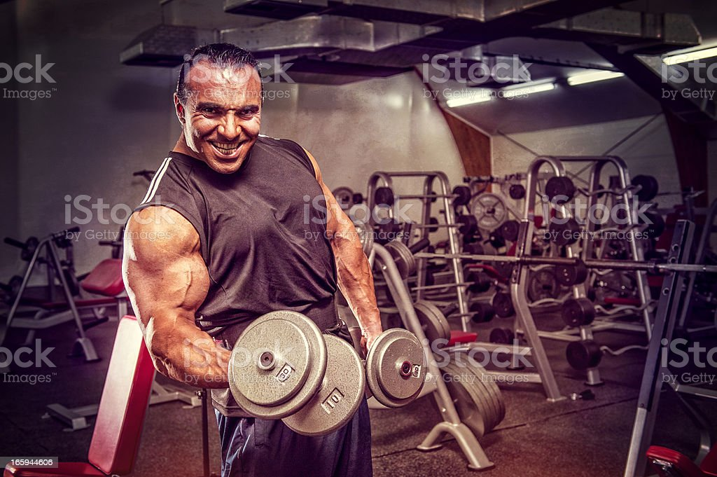 Hell of a workout royalty-free stock photo