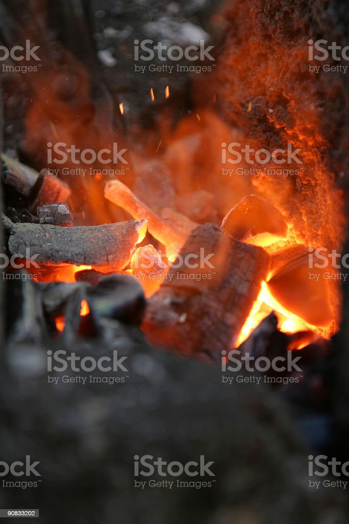 hell on fire royalty-free stock photo
