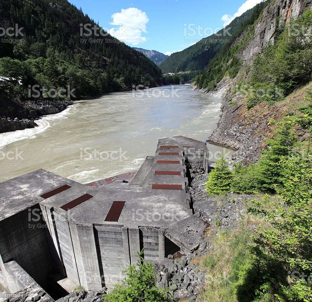 Hell's Gate Fishways on Fraser River. stock photo