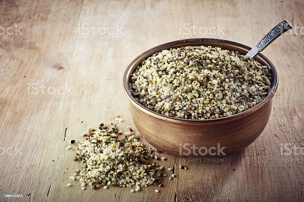 helled hemp seeds stock photo