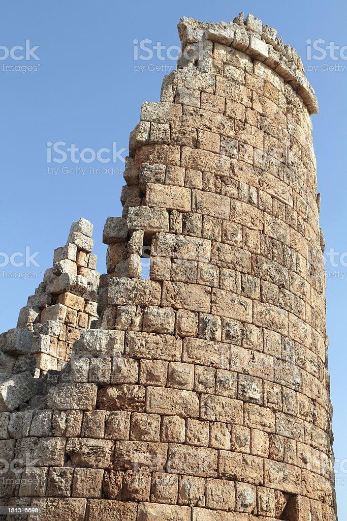 Hellenistic Gateway, Perge, Turkey stock photo