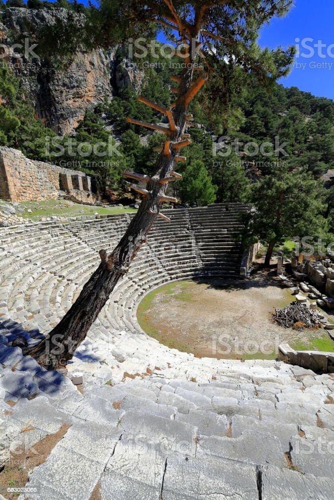 Hellenistic theater dated 1st.century BC. Arykanda-Turkey. 0544 stock photo