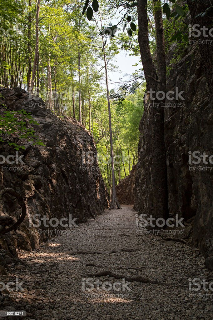 Hellfire Pass, Thailand stock photo