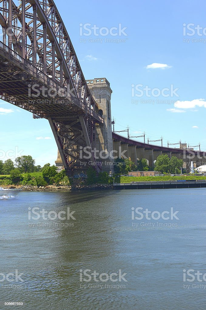 Hellgate Bridge stock photo