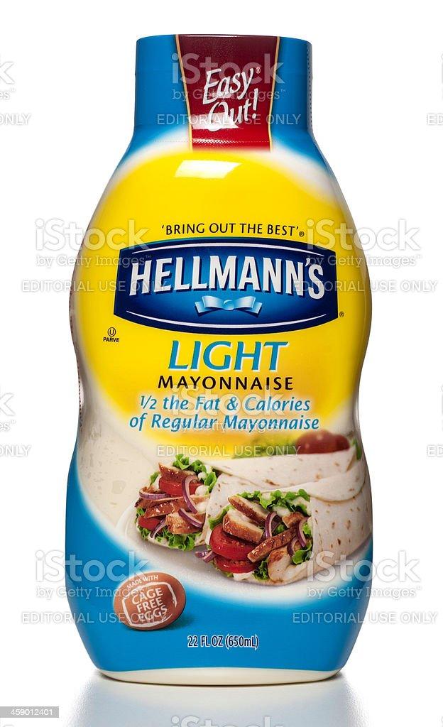 Hellmann's Light Mayonnaise bottle stock photo