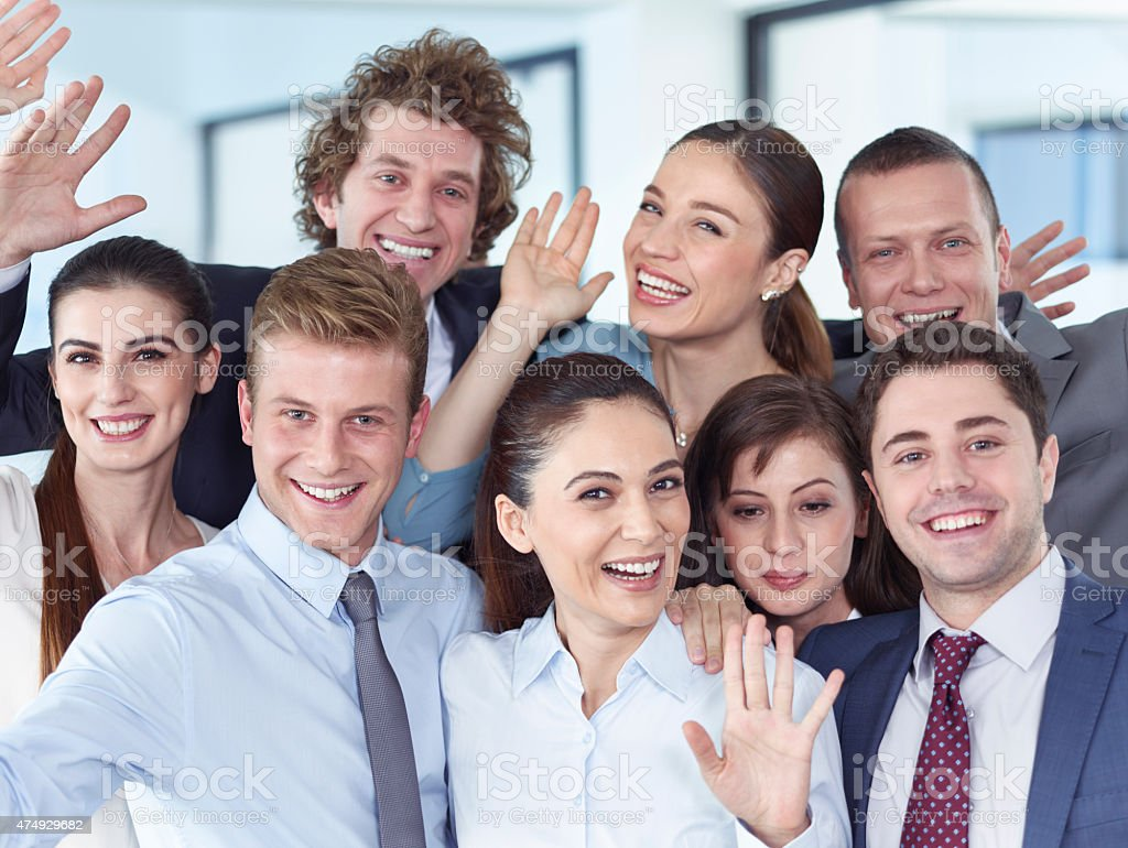 Hello And Goodbye Friends stock photo