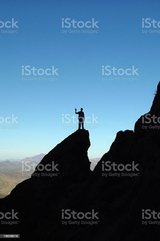 Hello from the edge royalty-free stock photo