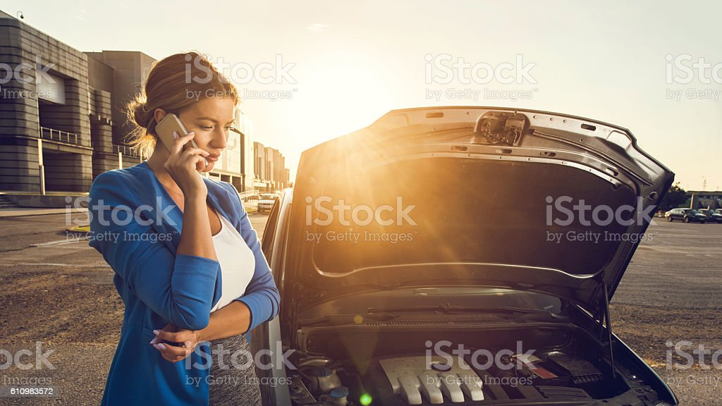 Hello, I have problems with my car! stock photo