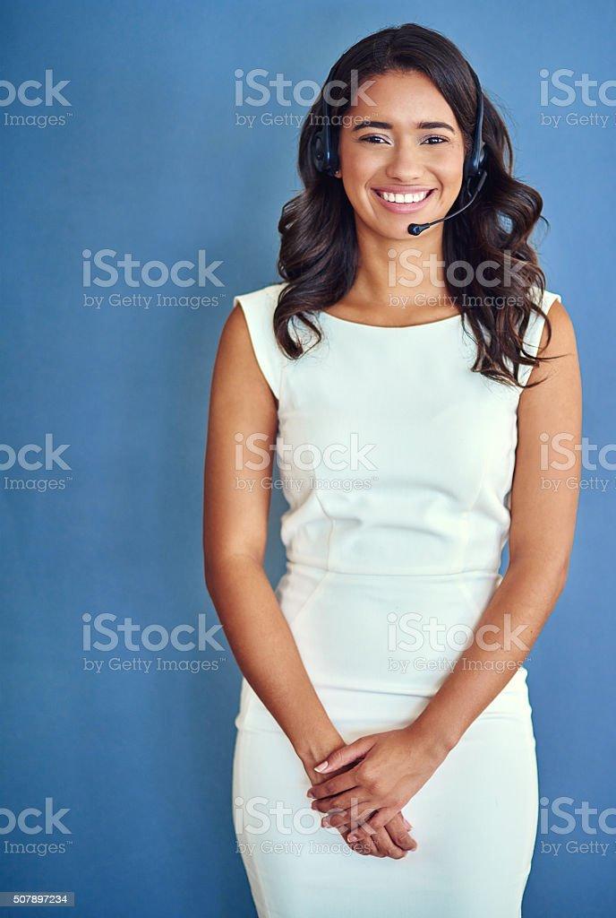 Hello, I'm here to help stock photo