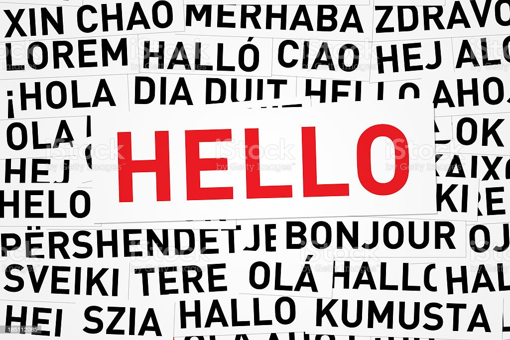 Hello in Different Languages royalty-free stock photo