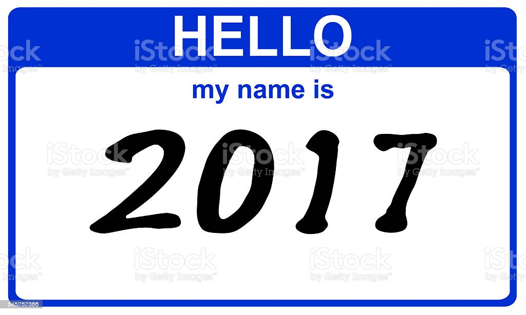 hello my name is 2017 stock photo