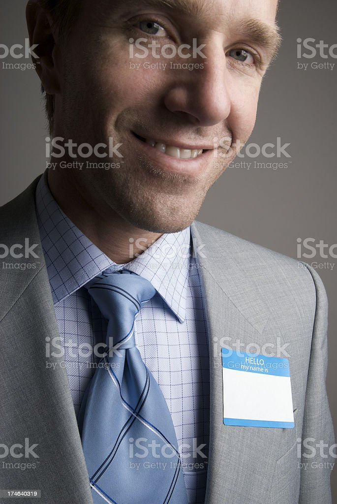 Hello My Name Is Close-Up stock photo