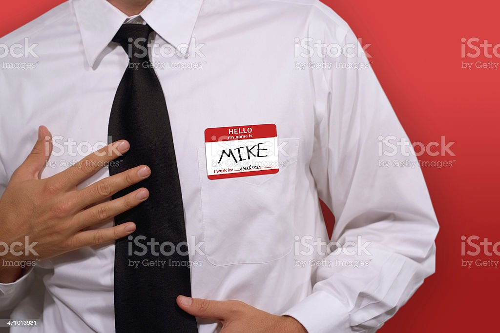Hello: My Name is Mike royalty-free stock photo